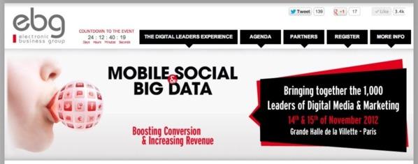 L'EBG regroupe médias sociaux et données volumineuses dans une conférence en anglais