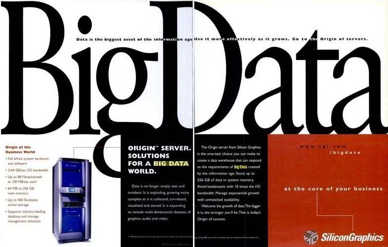 Silicon Graphics : la 1ère publicité sur le Big Data