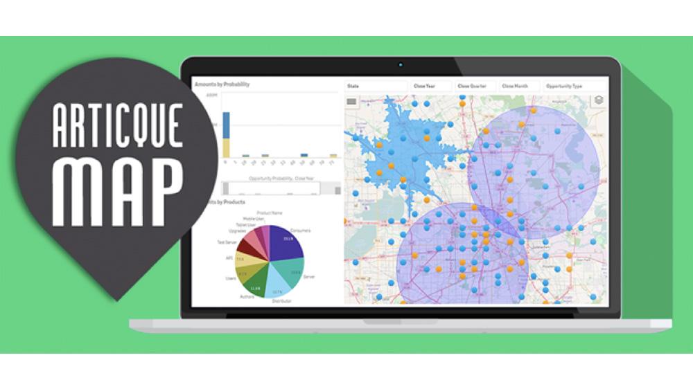 ARTICQUE annonce la sortie d'Articque MAP version 2, l'extension de cartographie décisionnelle pour Qlik Sense et QlikView
