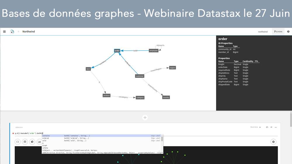 27 juin à 10h30 - Webinaire Datastax<br>Bases de données graphes : comment cela fonctionne, et comment les utiliser