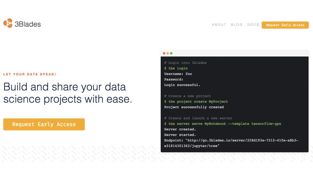 A suivre : 3Blades, une plateforme pour partager les projets de science des données