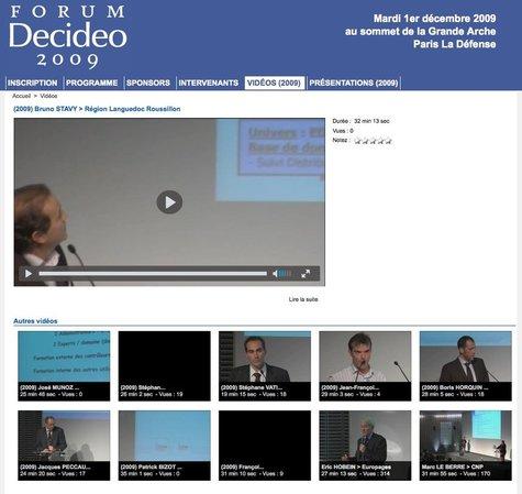 Retour sur le Forum Decideo 2009 du 2 décembre dernier : vidéos, photos et présentations