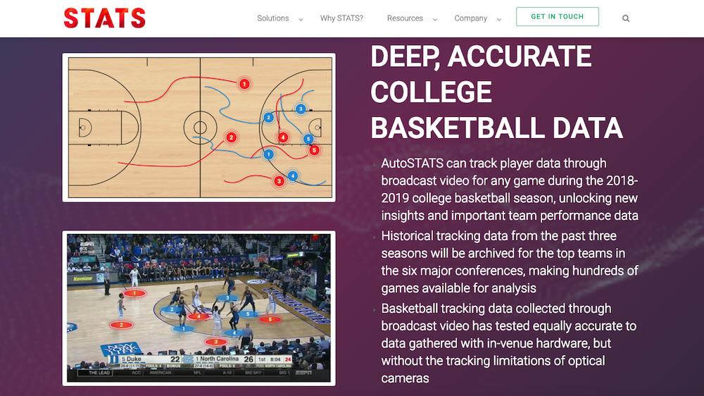 STATS lance AutoSTATS, première technologie brevetée alimentée par l'IA, à capturer les données de suivi sportif via retransmission vidéo