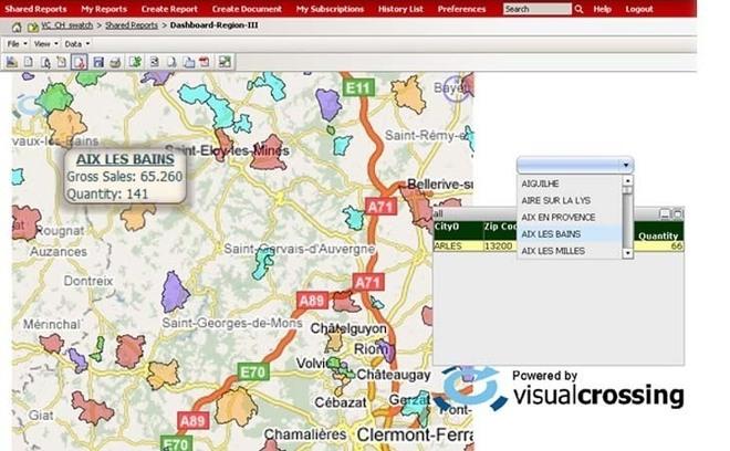 VisualCrossing apporte la cartographie au coeur de Microstrategy