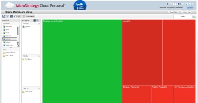Prise en main : Microstrategy Cloud Personal, ouvert à tous et simple d'utilisation