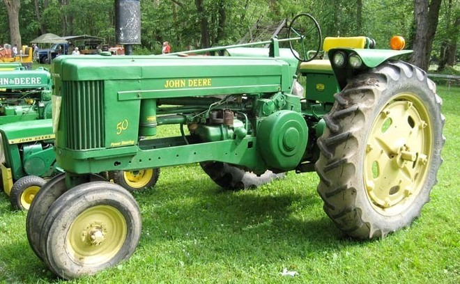 John Deere 50 en 2008 - French Creek Valley Antique Equipment Show - Cochranton, PA, Etats-Unis (Photo Ford8n)