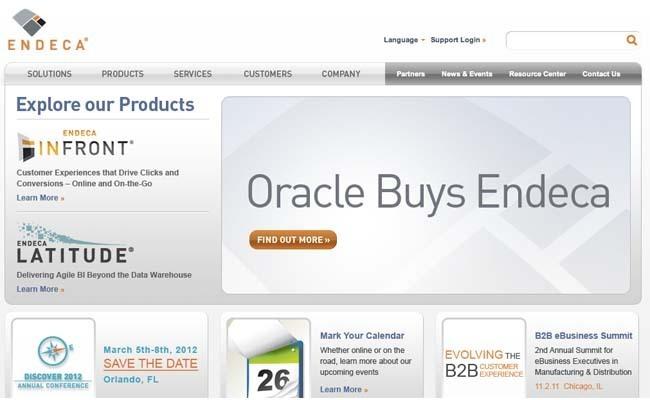 Oracle rachète Endeca pour compléter son offre ATG