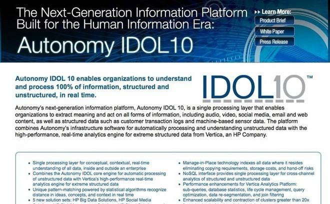 Autonomy présente une plateforme de nouvelle génération adaptée à l'ère « des informations générées par l'Homme »