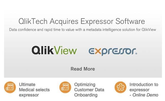 Qliktech rachète Expressor pour séduire les DSI