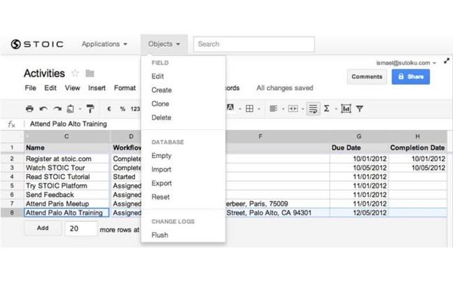 STOIC, pour transformer une feuille de calcul Google en application mobile sur le nuage
