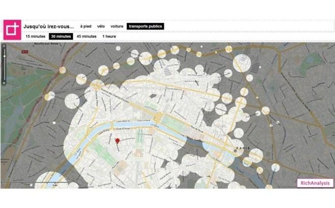 RichAnalysis présente 'Around-Me', le 1er service de géolocalisation en temps de trajet