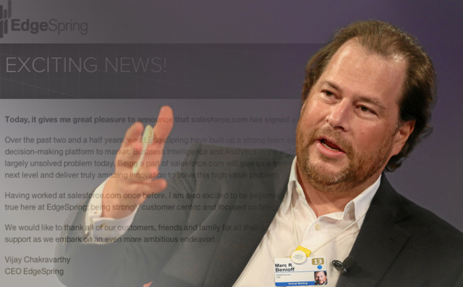 Marc Benioff, fondateur de Salesforce.com / Photo World Economic Forum