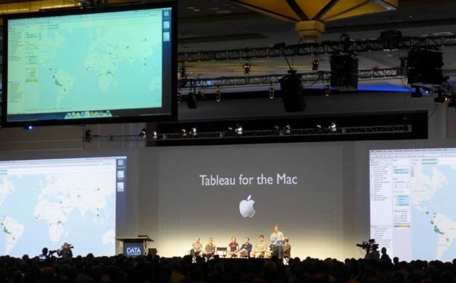 Annonce de Tableau sur Mac à la TCC13 à Washington