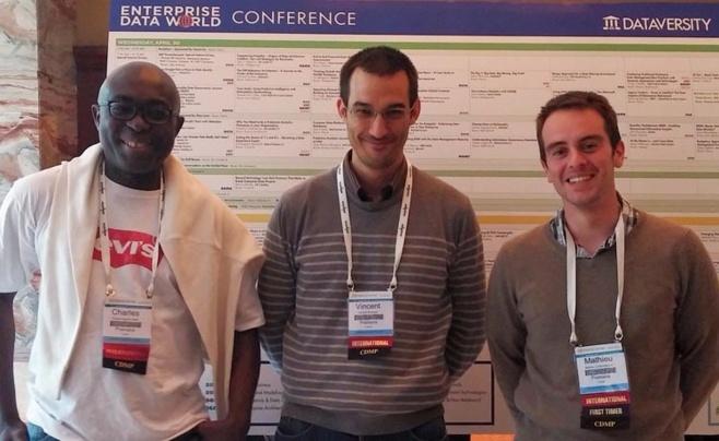 De gauche à droite : Charles NGANDO BLACK, Vincent GIVAUDAN, Mathieu CONTE-MAIORINO