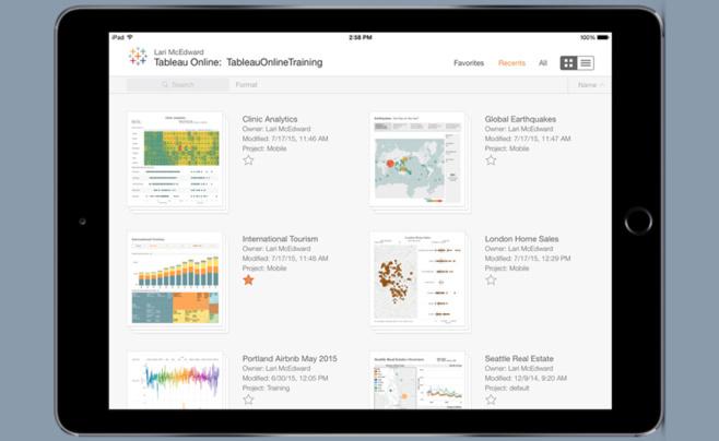 La nouvelle application mobile Tableau 9.1