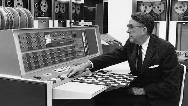 Arthur Samuel et l'ordinateur IBM 701