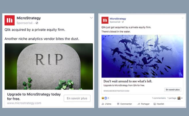 Publicités payées par Microstrategy sur Facebook