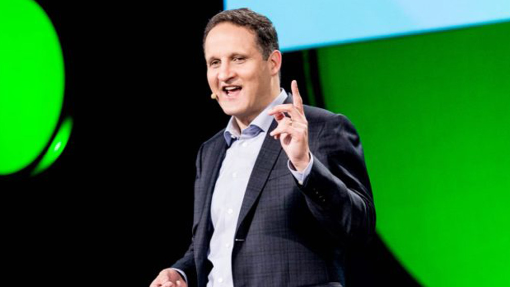 Adam Selipsky, CEO de Tableau, à la conférence utilisateurs en 2016 (Photo Tableau)