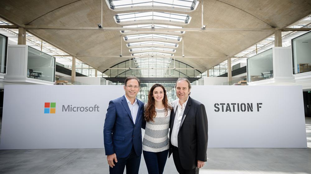 Microsoft rejoint Station F pour favoriser l'émergence de champions français de l'intelligence artificielle