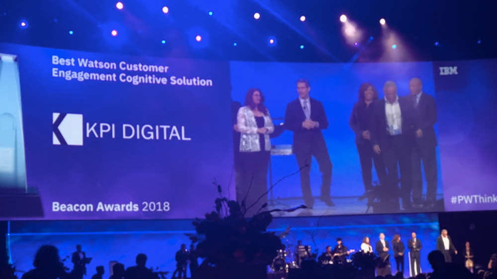 KPI DIGITAL remporte le prix IBM Beacon 2018 pour la meilleure solution cognitive Customer Watson Engagement