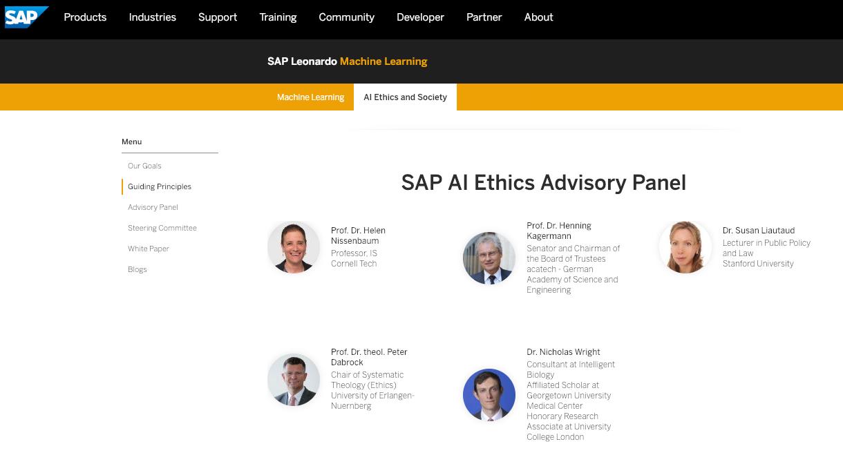 SAP devient la première entreprise technologique européenne à créer un panel consultatif sur l'éthique pour l'intelligence artificielle