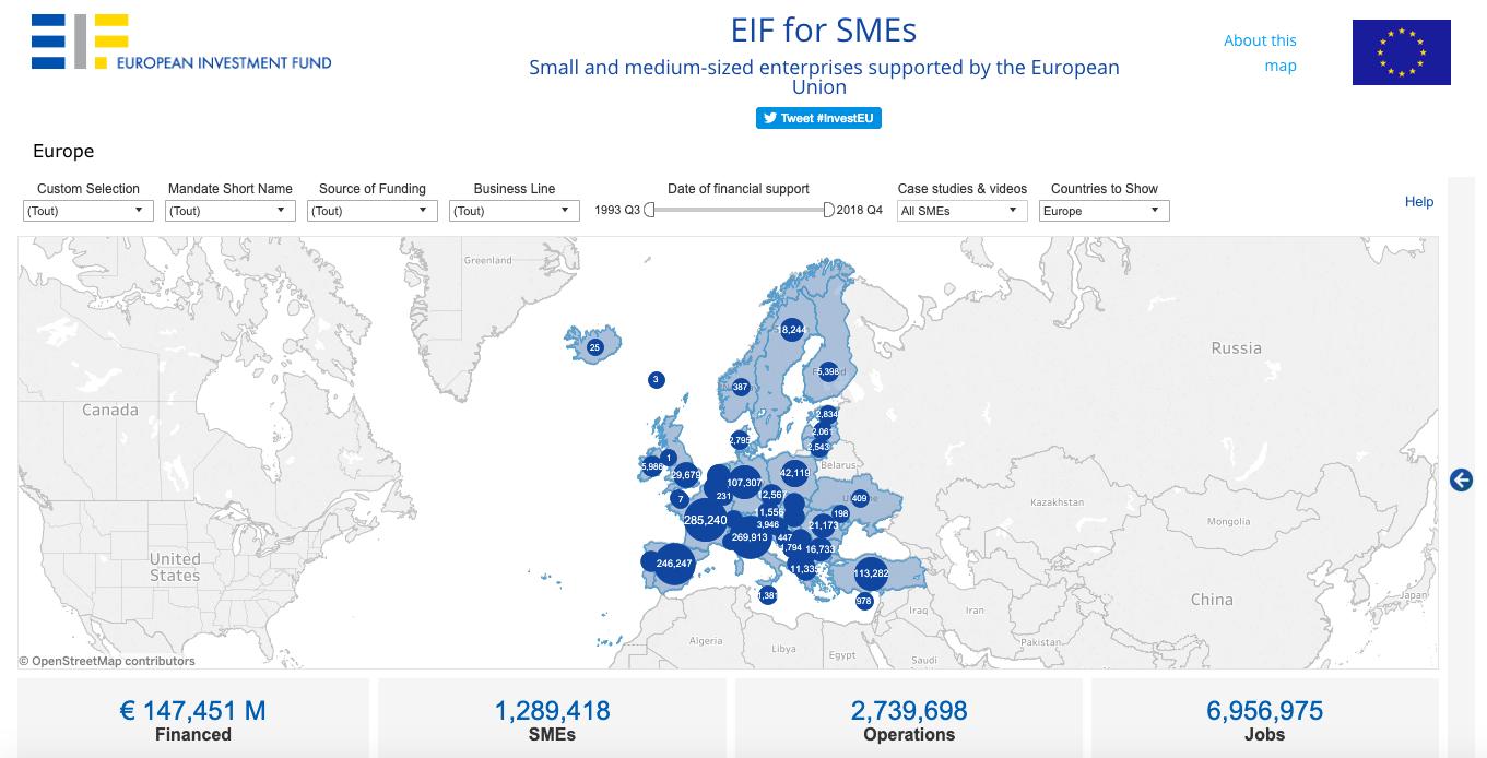 Grâce à sa technologie de visualisation des données, Tableau permet au Fonds Européen d'Investissement de rendre accessible les informations relatives au financement public des PME européennes