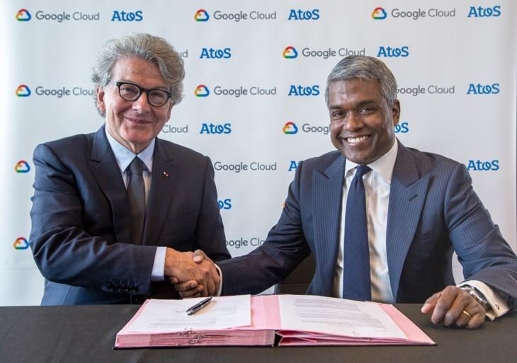 Thierry Breton, Président Directeur Général d'Atos et Thomas Kurian, CEO de Google Cloud.