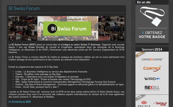 Le BI Swiss Forum intègre le SITB : prochaine édition le mardi 29 avril à Genève