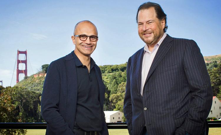 Les patrons de Microsoft et Salesforce, nouveaux actionnaires stratégiques de Informatica
