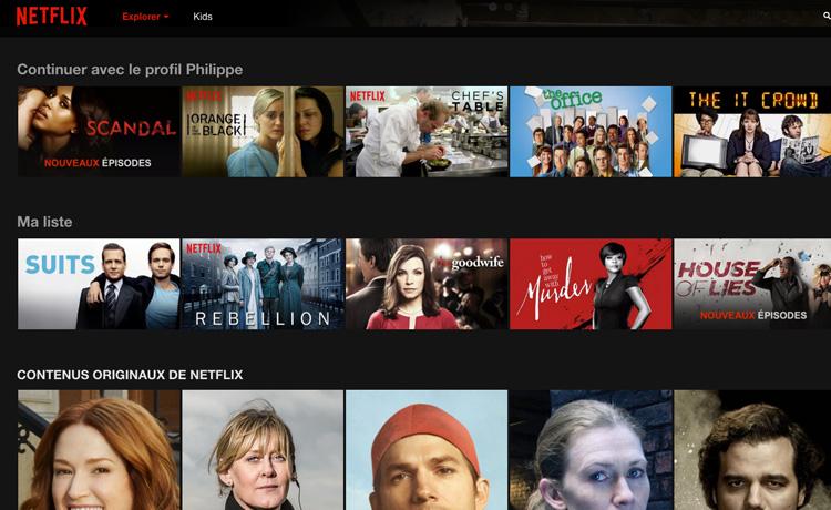 Netflix personnalise les propositions de contenu en fonction des données de visionnage enregistrées et analysées dans Cassandra.
