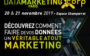 DATA MARKETING PARIS 2019 – 20 & 21 Novembre 2019 à Paris, Espace Champerret