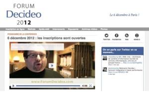 6 décembre - Forum Decideo 2012 : Les inscriptions sont ouvertes